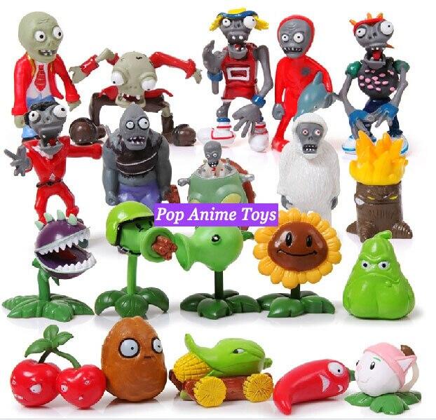 pop jogo plants vs zombies figuras clássico pvc crianças brinquedos
