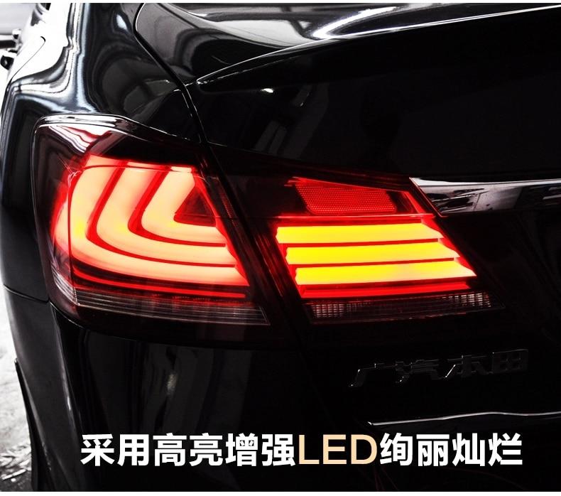 Бесплатная доставка по ВЛАНД задний лампа для Accord 2014 2016 светодиодный задний фонарь с Сид Moving света сигнала