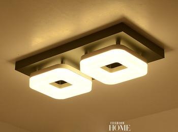 Moderne Inbouw PVC LED Rvs Plafondlamp Ronde/Vierkante LED Lustre Luminarias voor Thuis Gangpad Gang Balkon