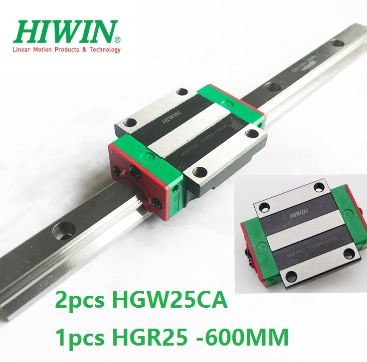 2PCS HIWIN Linear Carriage Flange Blocks HGW25CA Match With HGR25 Rails