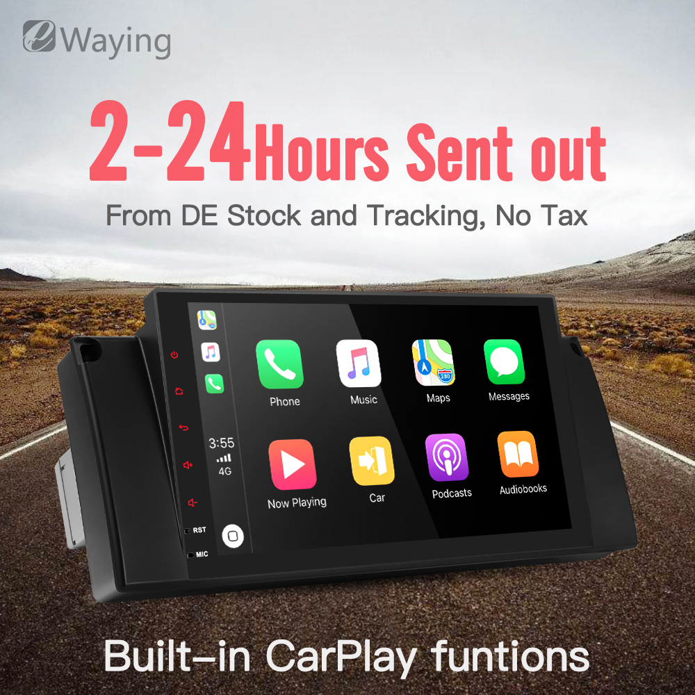 Ewaying Octa-Core Android 8.1 2G+32G 2.5D IPS screen Built-in CarPlay For BMW E39 E53 Support GPS Navigation 4G FM Radio octa core android 8 1 2g ram 32g rom 2 5d ips screen for bmw e39 e53 support carplay gps navigation 4g fm radio