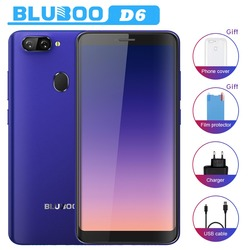 BLUBOO D6 WCDMA 3G Mobile Phones 5.5inch Android 8.1 2GB RAM 16GB ROM MT6580A Quad Core Dual SIM Smartphone Dual 5MP Rear Camera