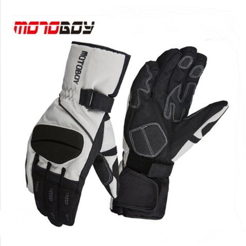 2017 Winter warm waterproof Motoboy Motorcycle Gloves windproof Cross country race motorbike glove Non-slip Wrestling Reflective 100% waterproof authentic germany nerve kq 019 leather motorcycle gloves cross country knight glove winter warm breathable