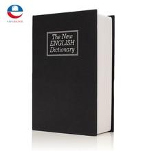 NEW Metal + Paper Plate Dictionary Book Secret Hidden Security Safe Key Lock Cash Money Jewellery Locker Durable Quality