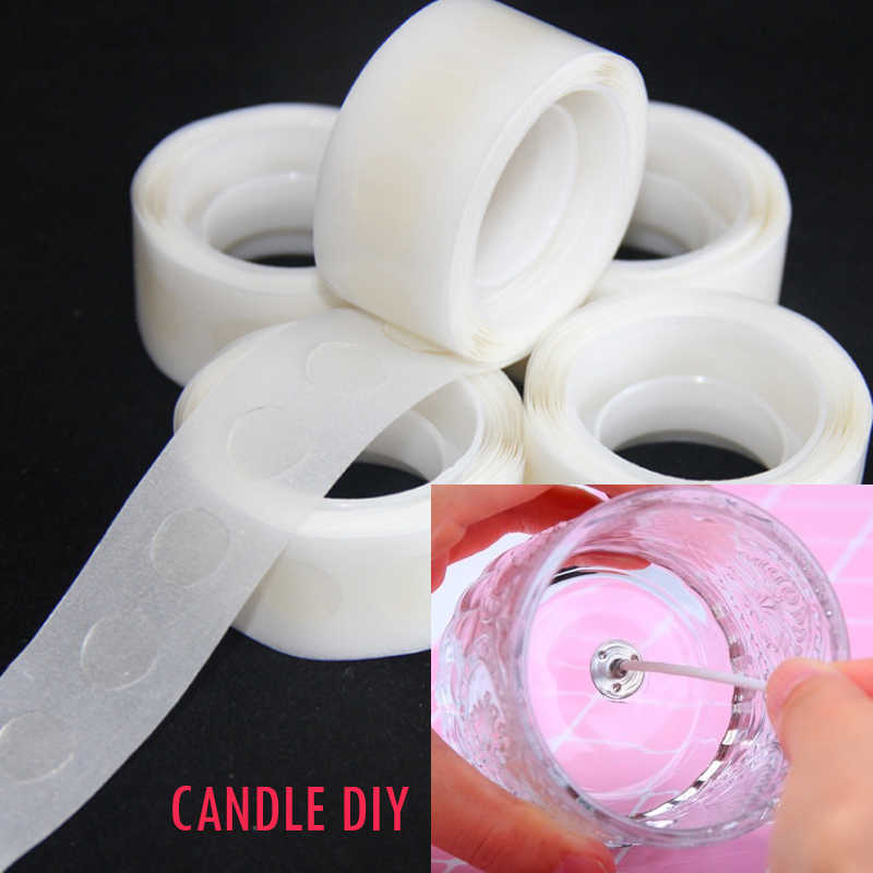 CHUANGGE No Trace Transparent Plastic Wick Fixed Plastic DIY Candles Material Movable Fixed Point of Plastic Card Plastic