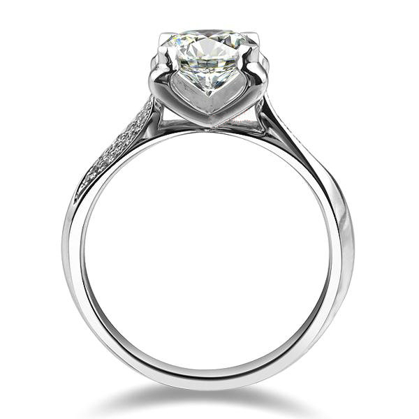 1 carat pure gold 14k oxhead style prolonged synthetic diamond engagement ring for woman girl love best valentines day gift in rings from jewelry
