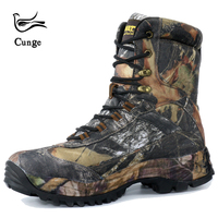 cunge tactical Military combat hiking boots waterproof hiking shoes Men boots leather shoes High top Boots Sport Travel shoes