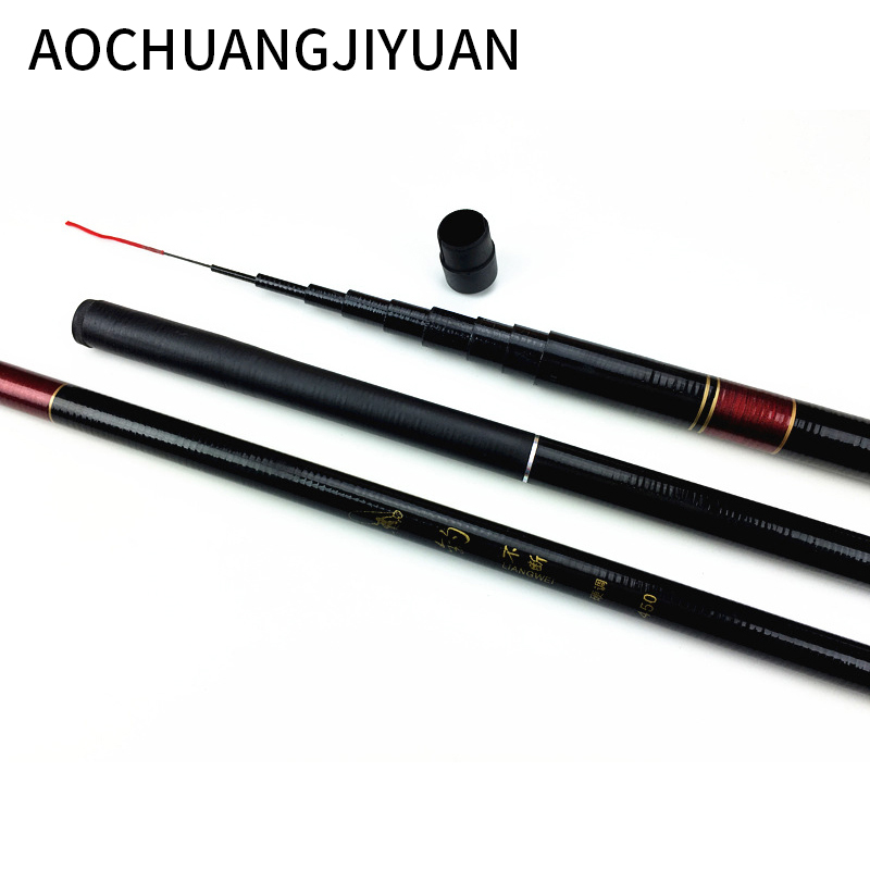 NEW 3/3.6/3.9/4.8 Meters Stream Hand Pole Casting Telescopic Fishing Rods Fish Tackle Fishing Pole Stream Hand Rod