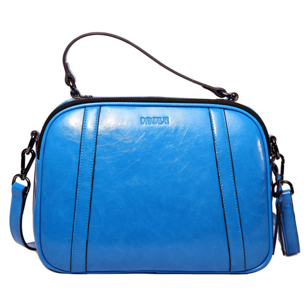 LOEIL Spring and summer new women's bag oil wax leather retro college wind leather shoulder Messenger bag