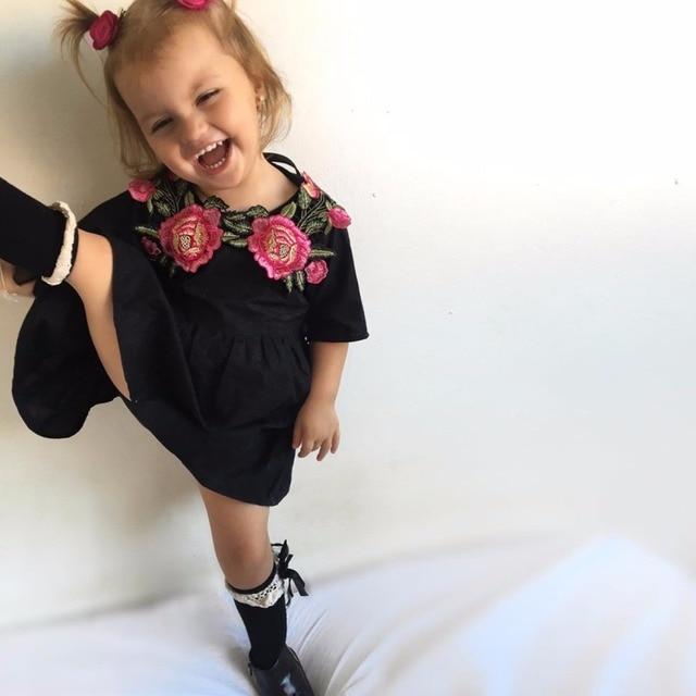 Sommer Mode Lässig Mädchen Kinder Baby Kleid Blume Floral Kurzarm ...
