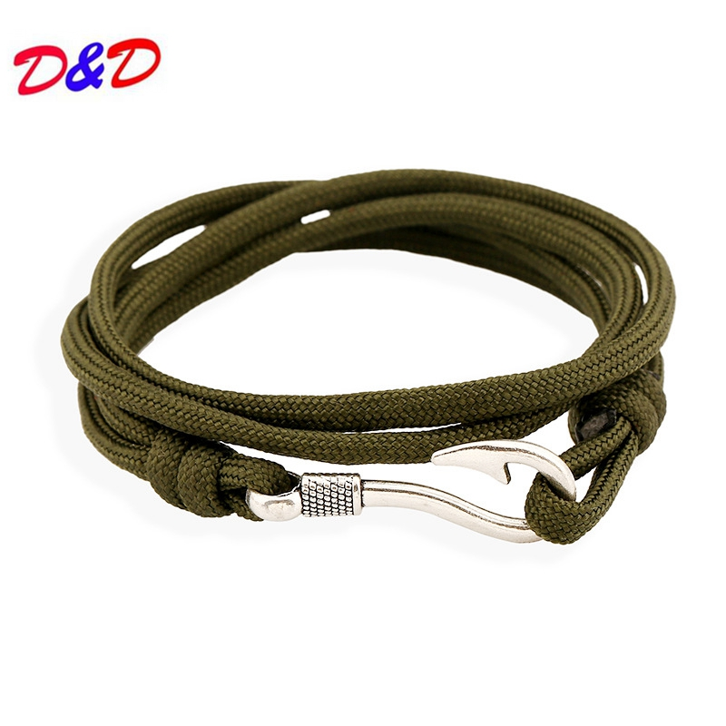 2018 Hot Sale Sterling Fish Hook Zinc New Fashion Bracelets For Mens Jewellery Tom Hope Anchor Friendship Wrap in ID Bracelets from Jewelry Accessories
