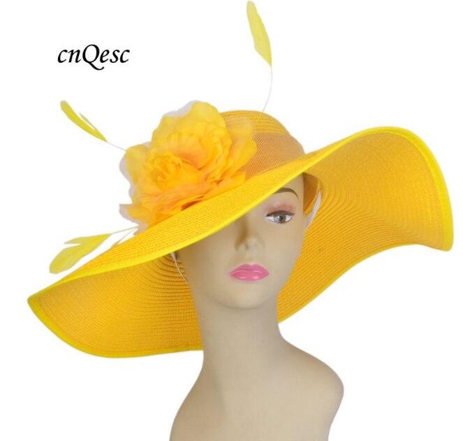 Exclusive Design Ladies Tone Wide Brim Kentucky Derby Sinamay Wedding Women's Hat Fascinator Fedora W/birdcage Veil&silk Flower