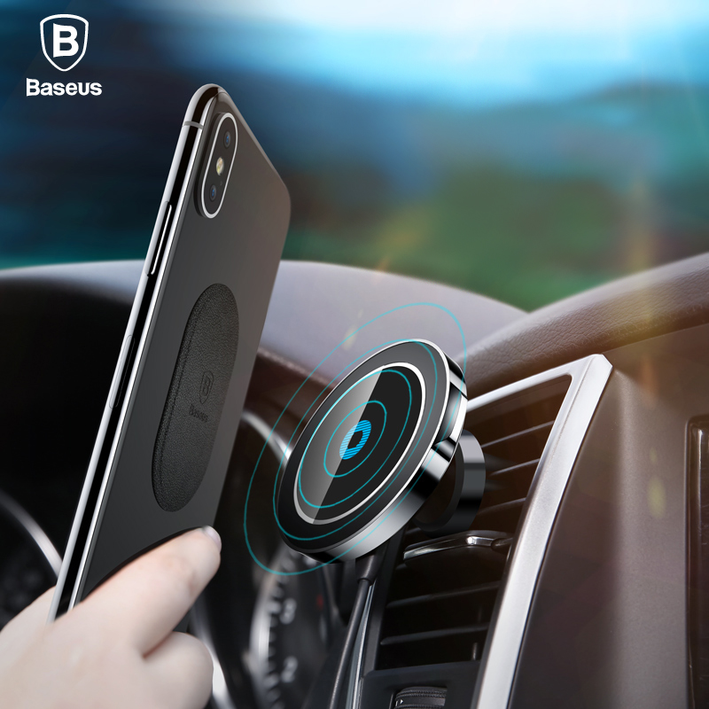 Baseus Car Magnetic Qi Wireless Charger For iPhone X 8 Samsung Note S8 S7 Fast Charging Mount Phone Holder Stand