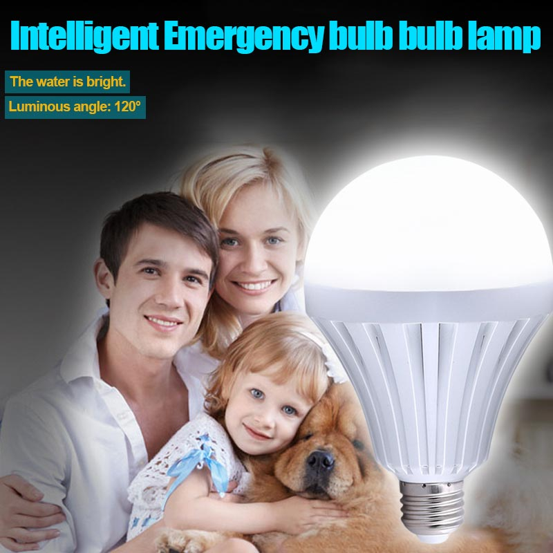 5/7/9/12/15W Smart LED E27 Emergency Light Bulb Rechargeable Outdoor Camping Intelligent Lamp CLH@8
