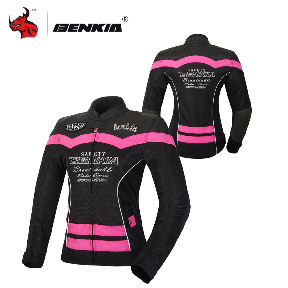 BENKIA Women summer motorcycle jacket Mesh Breathable Jacket Motorcycle Racing Suit Ventilation Riding Moto Jacket Women benkia men women motorcycle rain jacket coat two piece raincoat suit riding rain gear chaqueta moto jacket