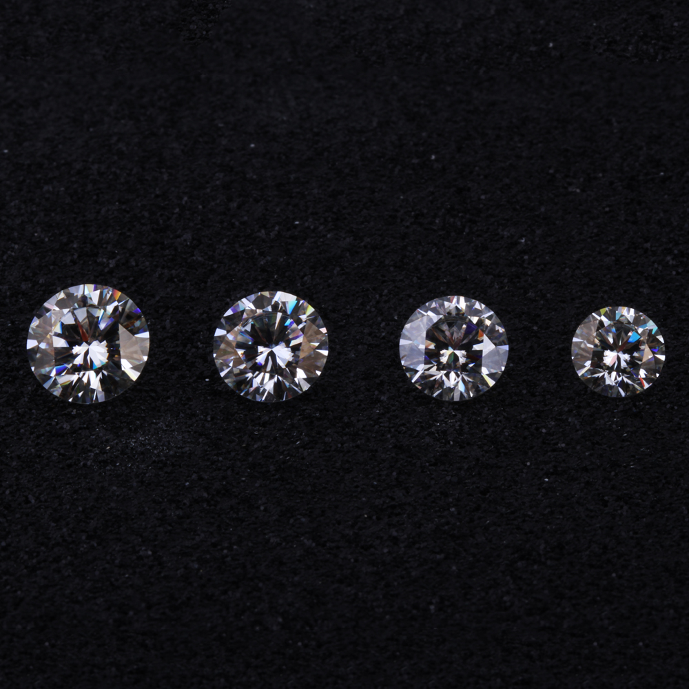 Wholesale Loose Moissanites Test as real 3ct 9mm Round Brilliant Cut CHARLES&COLVARD Genuine Moissanite stone