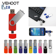 Two Site OTG Flash Drive Rotation External Storage USB Flash Drive 64GB Smartphone Pen Drive 8GB Memory Stick Pendrive Flashdisk