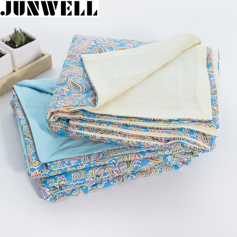 140*200cm European style 100% Cotton Jersey Blanket Printing fabric multi functional Bed Sofa cover Throw