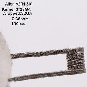 Image 5 - XFKM Ni80/A1/SS316 الغريبة v2 لفائف ل RDA تانك بخاخ RTA سيجارة إلكترونية أكسسوار القلم 100 قطعة/صندوق الغريبة V2 لفائف