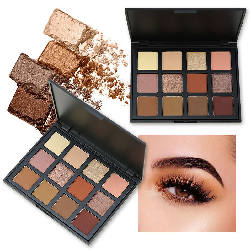 12 Color Warm Glow Eyeshadow Pallete Portable Makeup -2472