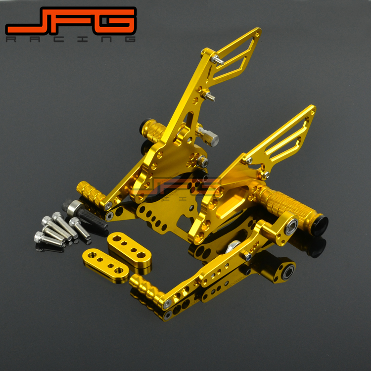 CNC Adjustable Foot Pegs Pedals Rest Rearset Footpegs For SUZUKI GSXR1000 GSXR 1000 2009 2010 2011 2012 2013 2014 2015 K9 2pcs bicycle plastic wheel pedals axle foot pegs