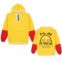 Cosplay Costume Unisex Adult Sweater One Punch Man Sweater Oppai Blow Male Saitama Teacher Plus Velvet Hooded Anime Jacket