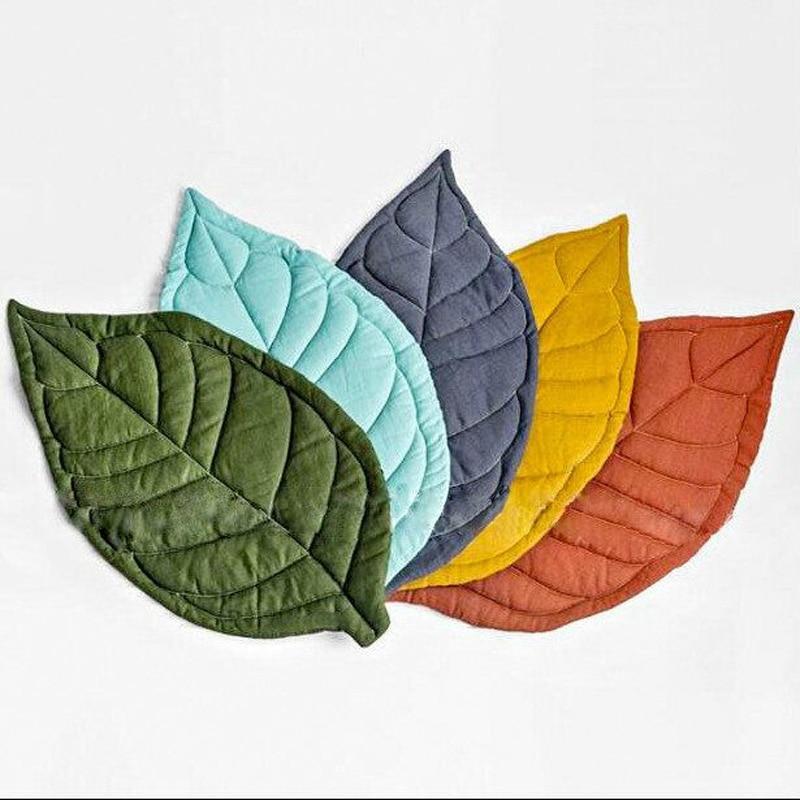 2018 Summer New Carpet Baby Play Mats Newborn Infant Soft Sleeping Mat Cotton Leaf Blanket 3 Colors
