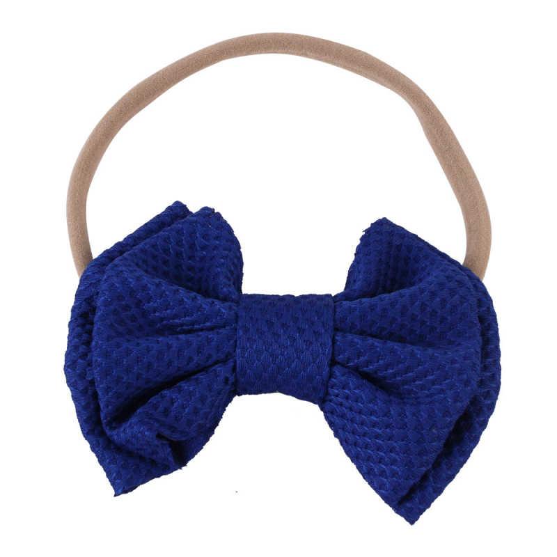 Bebé diadema bebé diademas de chica para las niñas turbante bebé Haarbandjes bebé arcos diadema de pelo de Nylon accesorios arco Dropshipping. exclusivo.