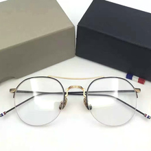 5911ea11d06c RYMA Vintage Optical thom Eyeglasses TB903 half Frame Men Computer Myopia  Eye Glasses