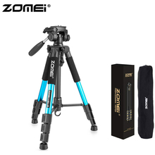 Zomei Blue Z666 Lightweight Tripod  Portable Travel Camera Stand with Pan Head and Carry Bag for SLR DSLR Digital Phone