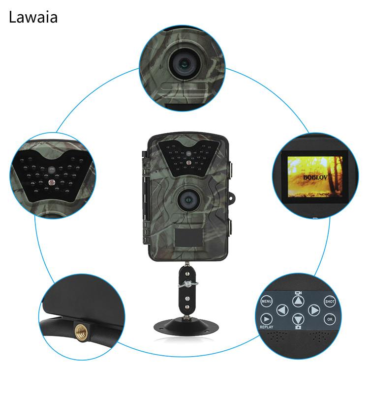 Lawaia Охота Камера GPRS SMS Инфракрасный Скаутинг Trail Камера дикой природы Камера CT008 2.4 ЖК-дисплей Экран видео Регистраторы поле питания
