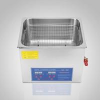 Digital 110v/ 220v Stainless Steel 15L Liter Industry Heated Ultrasonic Cleaner Heater w/Timer