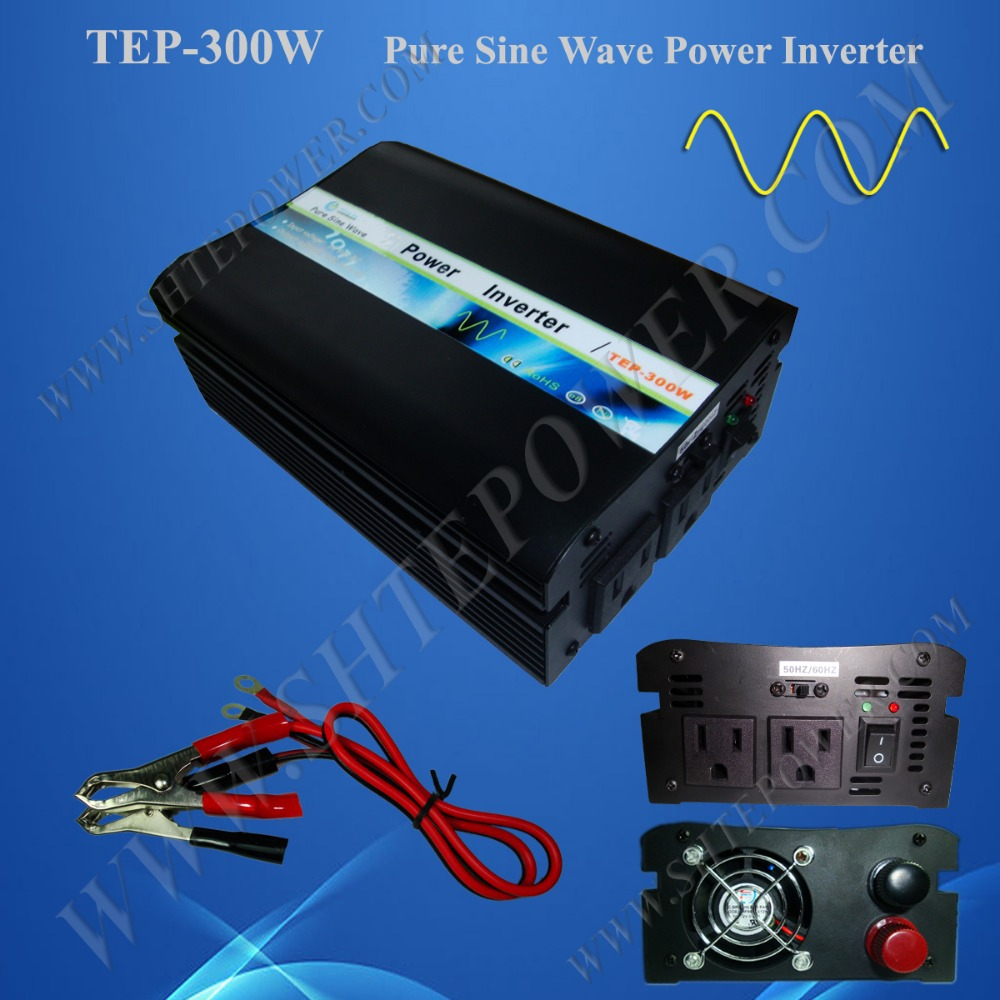 цена на 300w Pure Sine Wave Power Inverter 12vdc to 110vac, 50Hz To 60Hz Switch