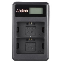 Andoer LP-E6 Oplaadbare LED Display Li-Ion Battery Charger Pack Kit voor Canon EOS 6D 7D 70D 60D 5D Mark III mark II SLR(China)
