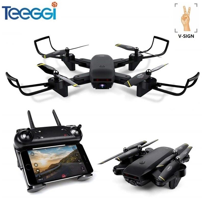 Professionnel Selfie Drone Optique Suivez-moi RC Quadcopter avec Double Caméra HD 720 p FPV Dron Hélicoptère VS VISUO XS809S SG700 E58