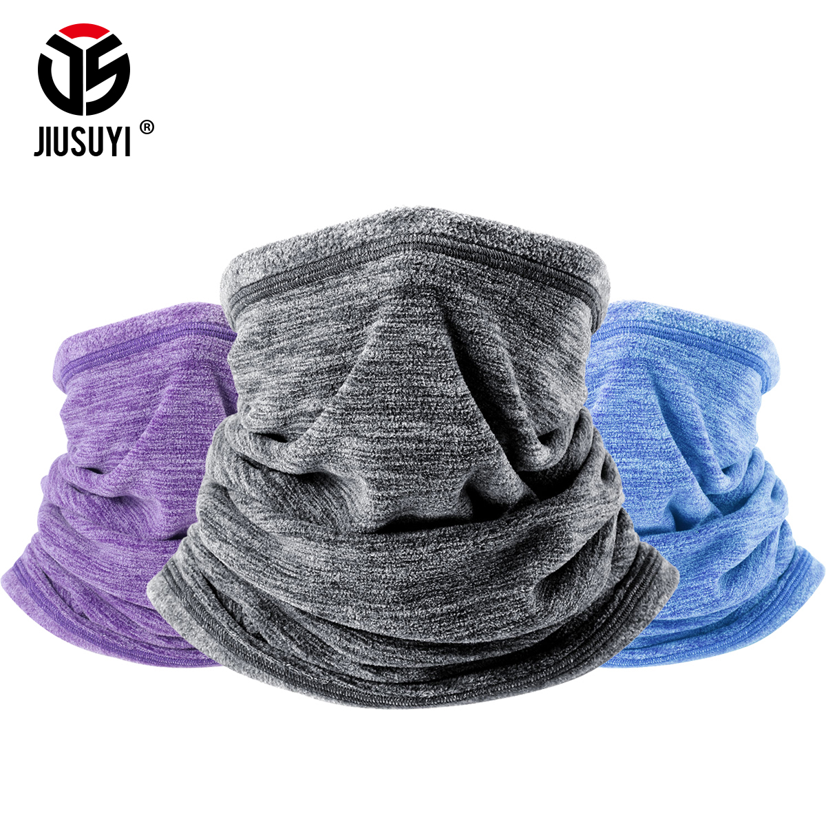 Cold Weather Polar Fleece Wool Thermal Neck Gaiter Tube Warmer Half Face Mask Winter Snowboard Scarf Headband Bandana Men Women