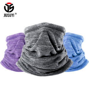 JIUSUYI Wool Tube Winter Scarf Headband Bandana Men Women
