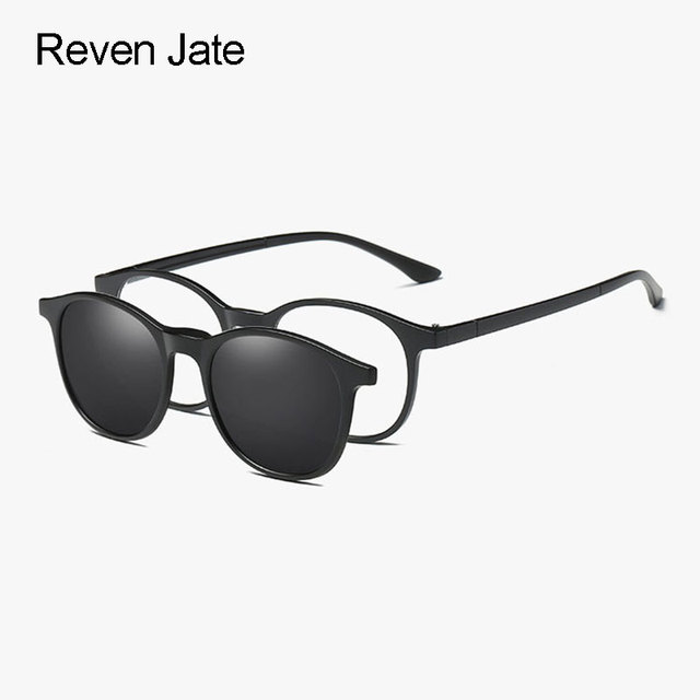 91c2f8a1a1dd Reven Jate 2245 Plastic Polarized Sunglasses Frame with Magnetic Super  Light Mirror Coating Polarize Sunwear Clip