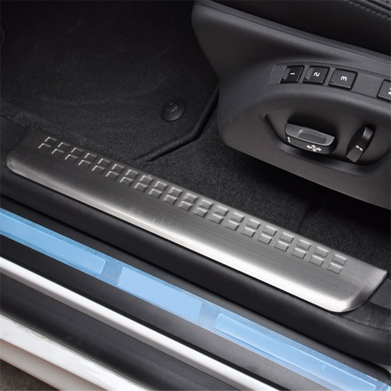 WELKINRY For Volvo XC60 AU 2008 2009 2010 2011 2012 2013 2014 2015 2016 2017 Threshold Door Sill Scuff Plate Foot Pedal Trim