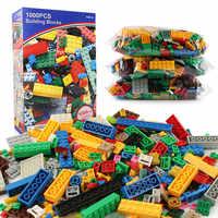 1000Pcs City DIY Kreative LegoINGLs Bausteine Sets Freunde Creator Klassische Juguetes Steine Pädagogisches Spielzeug für Kinder