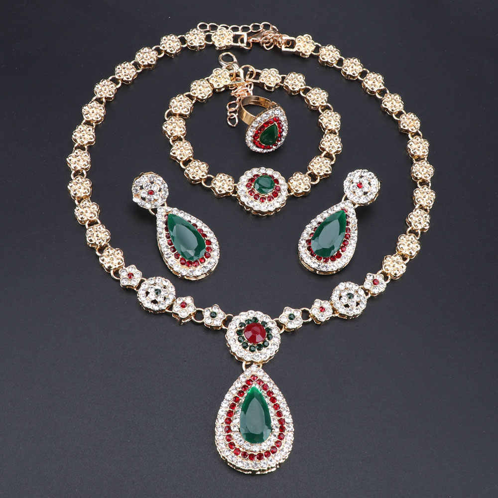 OEOEOS African Beads Dubai Jewelry Set Gold Color Nigeria Jewelry Sets Women Turkish Costume Jewelry Fashion 2019 New Arrivals