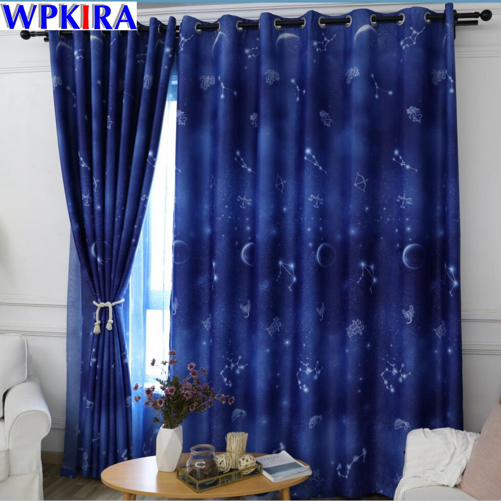 US $7.52 31% OFF Universe Star Semi Blackout Curtains for Living Room  American Decor Kitchen Window Printed Baby Boy Bedroom Curtain WP111 30-in  ...