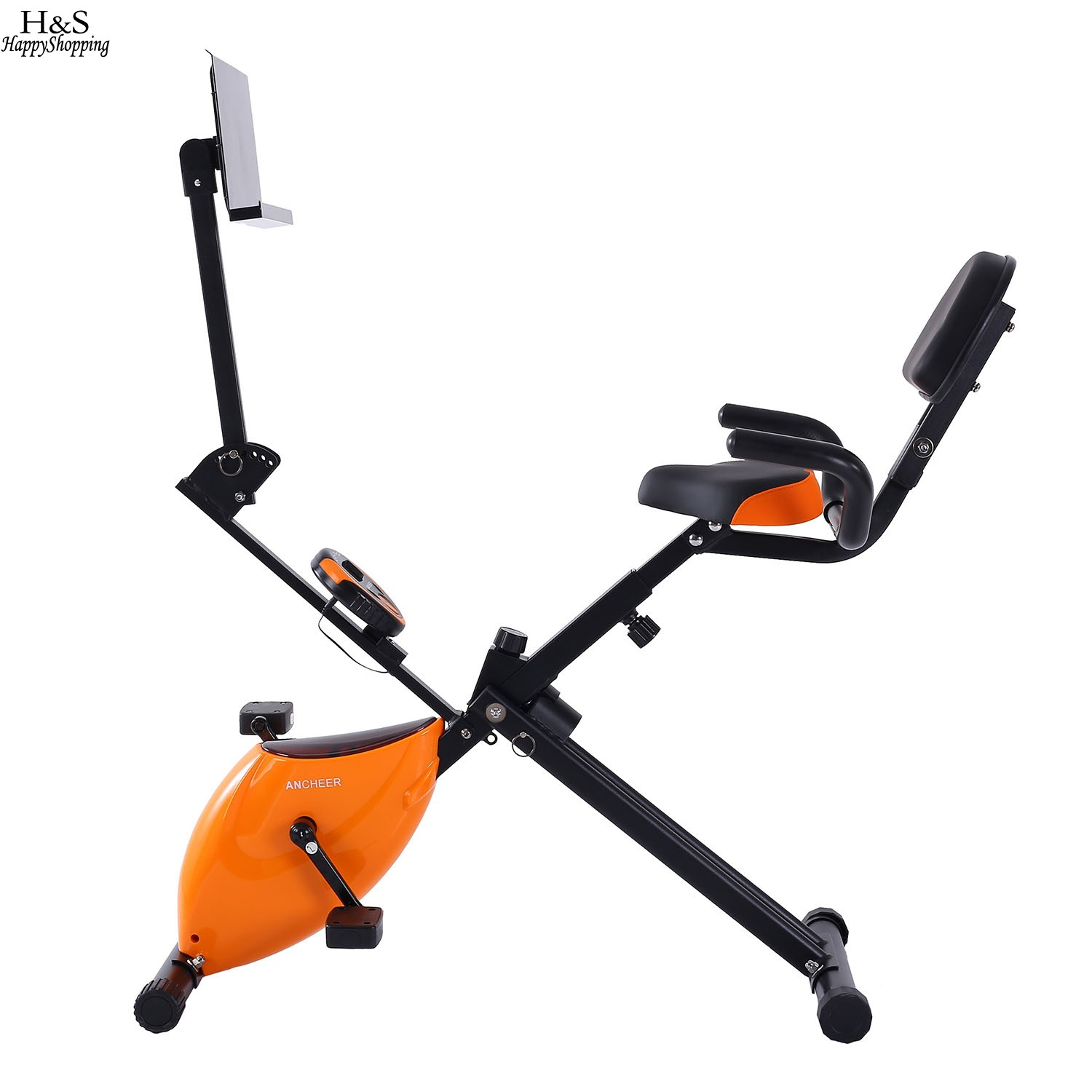Upright Exercise Bike Folding Adjustable Magnetic Fitness Machine Indoor Sports Exercise Bike Ultra-quiet Home fitness Equipment road bicycle exercise fitness station indoor training station mtb bike trainer folding roller training tool 3 stage folding
