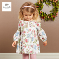 DB3633 dave bella autumn baby girl floral dress girls classic flower printed dress birthday dress baby kids costumes