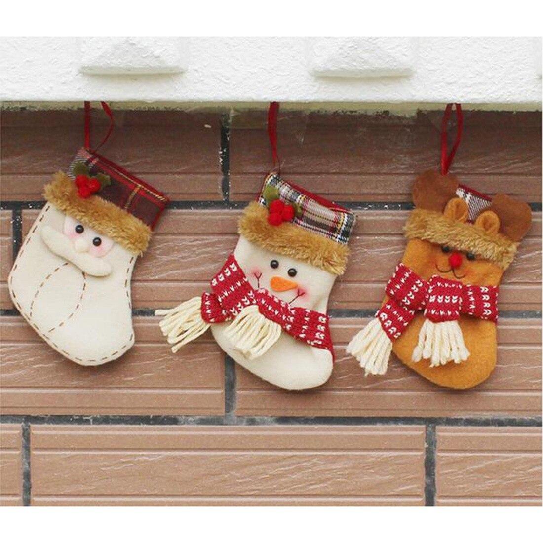 2016 Non Woven Christmas Stocking Sock Santa Claus