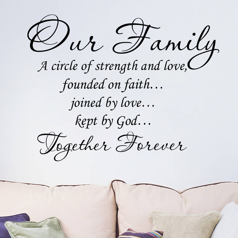 Our Family A Circle Of Strength And Love Wall Sticker Decal Home