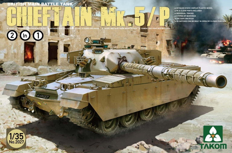 TAKOM 1/35 British Main Battle Tank Chieftain Mk.5/P 2 in 1 #TAK-2027 (No.2027)