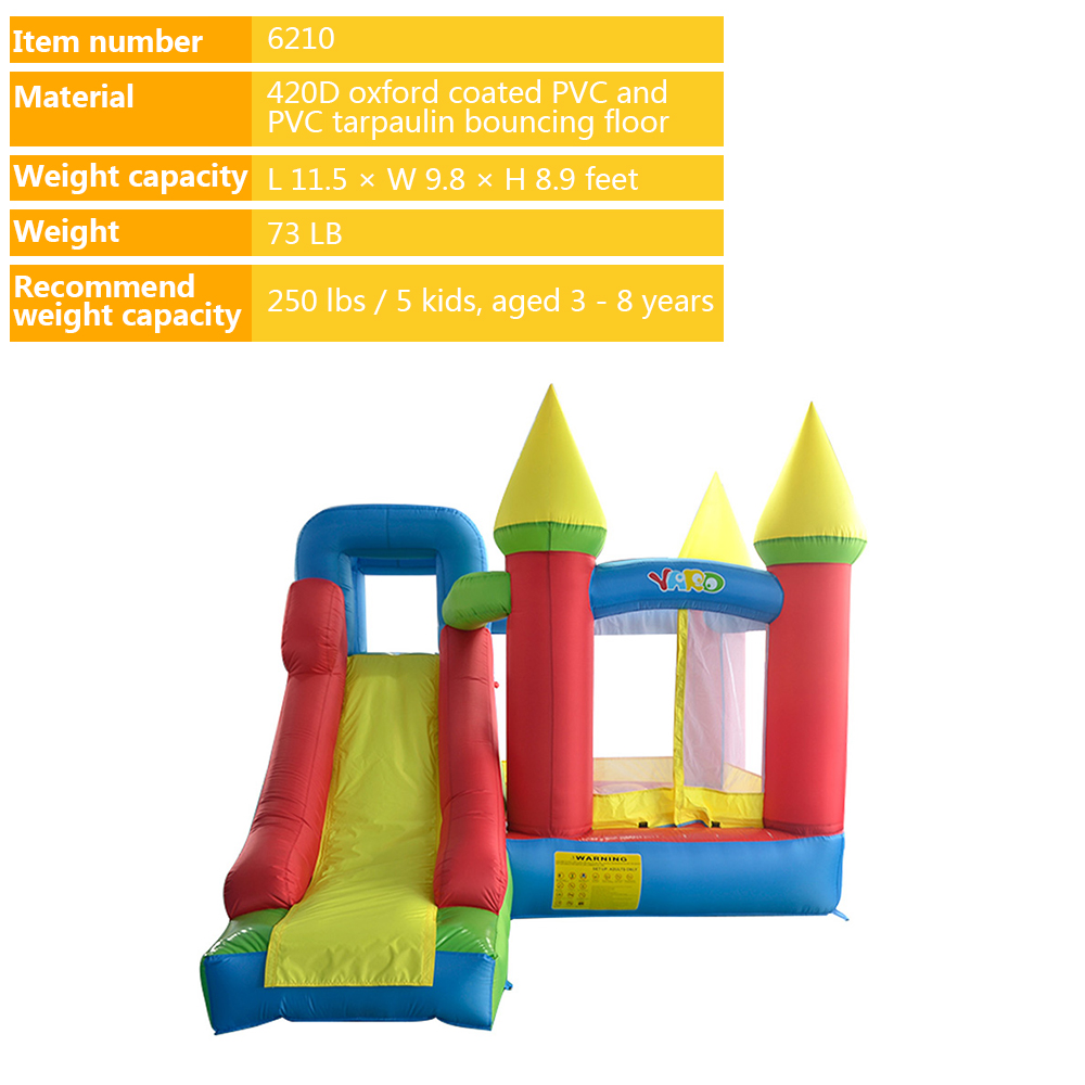 Free Blower PE Balls YARD Inflatable Bouncer Trampoline Games Jumping Castle Slide Home Use Ship Express Christmas Gift in Inflatable Bouncers from Toys Hobbies