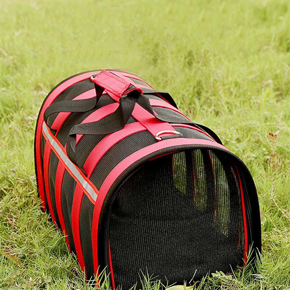 Дышащая Складная сетка сумка клетка для домашних животных для уличных собак кошек