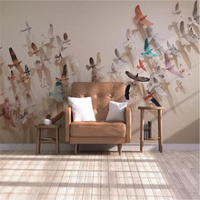 Creative group of flying birds background wall professional custom high-end mural factory wholesale wallpaper photo